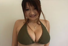 Ayumi Ayukawa Pretty Asian gals with big tits show off at the train station