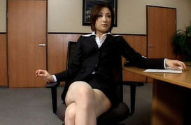 Nene Hot Asian kinky office gal enjoys quick sex