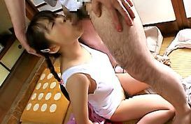 Risa Hano Naughty schoolgirl sucks cock