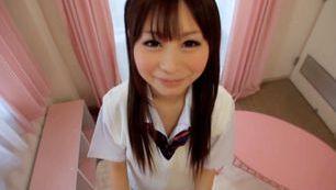 Skilled Schoolgirl Shizuku Hasegawa Jerks Him Off