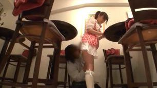 Sexy Japanese AV Model teen in hot costume getting a rear fuck