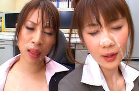 Junna Aoki and Erika Kirihara Hot Asian beauties in classroom sex