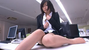 Lovely office milf Yume Kyono gets her anal banged mercilessly