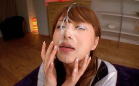 Akiho Yoshizawa Sucks Dick While Dressed For A Facial