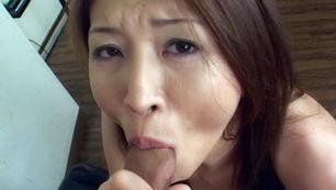 Yuki Touma Asian model gives hot blowjobs