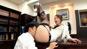 Ai Sayama In Fishnet Stockings Has Hot Office Sex