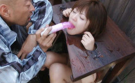 Japanese women from the village are held for some odd sexual acts