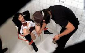 Poor Asian babe bound and tortured in the bathroom