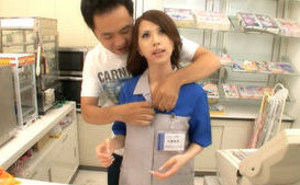 Japanese babe has crazy shop sex