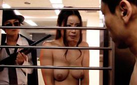 Risa Kasumi Crazy Asian doll fucks in the bank