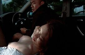 Asian mature lady has sex in the car