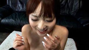 Smiling Cocksucker Gets Hot Jizz Shot On Her Face