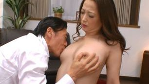 Busty Japanese wife enjoys cheating on her hubby