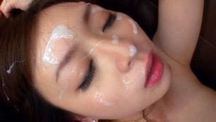 Noizomi Hazuki Asian babe gets drippy facial