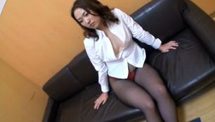 Hot milf wild insertion in black stockings
