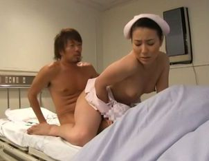 Skinny Japanese nurse likes to stimulate her patients