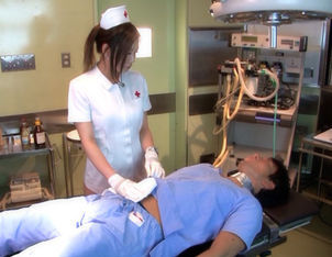 Emi Harukaze Lovely Asian nurse enjoys fucking