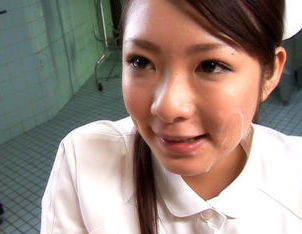 Minori Hatsune hot Asian nurse gives a blowjob