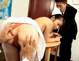 Mako Mochizuki wild nurse rocking sex!