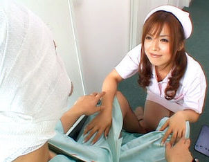 Rei Aoi Hot Asian nurse gives a blowjob