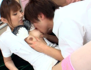 Tsubasa Amami Asian nurse is clumsy with care