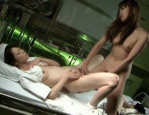 Maki Houjo and Yuuno Hoshi Asian lesbians in the hospital