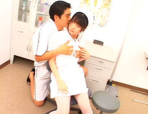 Lovely Asian nurse gets a cum facial
