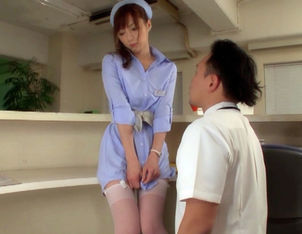 Kaede Fuyutsuki Hot Japanese nurse enjoys hospital sex