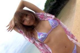 Kirara Asuka Asian doll has sex on the beach