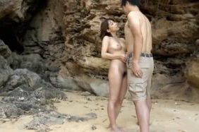 Hot milf Yuuko Shiraki gets drilled at the beach