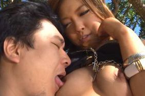 Ayumu Sena enjoys outdoor hardcore fuck session