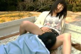 Amazing Japanese teen gets nailed in outdoors