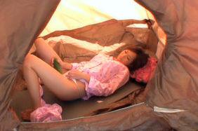 Akina Hot Asian babe is masturbating
