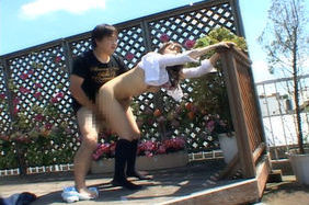 Horny Asian schoolgirl enjoys an outdoor fuck