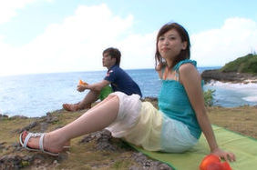 Syouko Akiyama hot Asian chick has outdoor sex