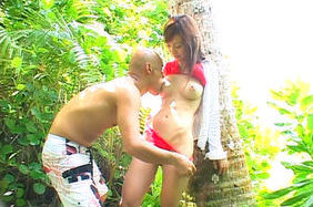Mako Katase Asian model gets outdoor sex
