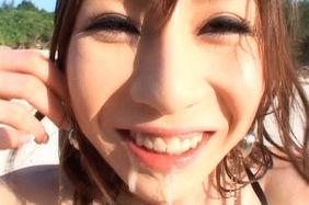 Rino Tomoa Sweet Asian babe likes outdoor sex