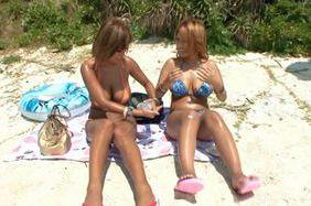 Nao Tachibana and Yume Mizuki hot outdoor sex