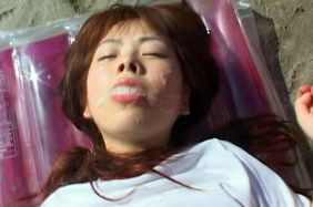Ran Monbu gets more cum than she can swallow in hardcore outdoor action