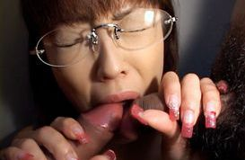 Mai Matsuki gives a double blowjob and takes cum in mouth and body.