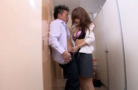 Nana Kunishi  Naughty Asian babe has office sex