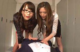 Lovely Yuna Shiina shares cock with horny friend