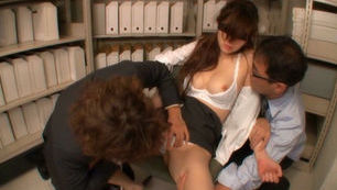 Horny office slut sucks and fucks like crazy
