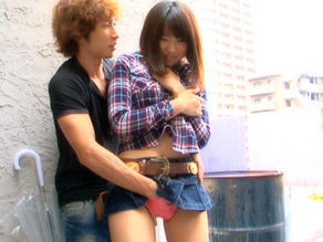 Haruka Itoh Asian babe has sex in public