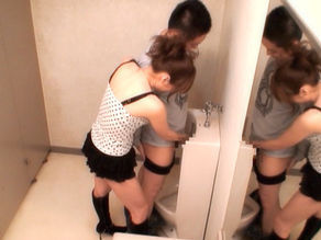 Yuma Asami Asian babe has hot sex in the toilet