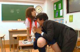 Busty schoolgirl Mizuki Akai likes it in the pussy