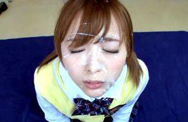 Sexy Asian teen Yuu Namiki nice double blowjob action