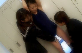Hot Japanese schoolgirls enjoy lesbian sex in school