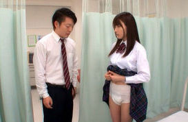 Rui Satome Asian schoolgirl in a diaper
