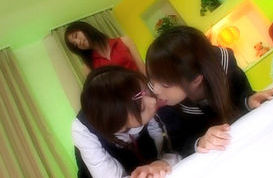 Japanese schoolgirls are at lesbian academy
